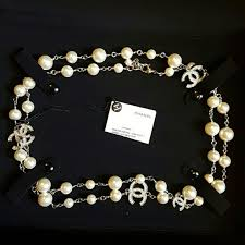 pearl necklace accessories images Chanel jewelry authentic new pearl crystal long necklace poshmark jpg