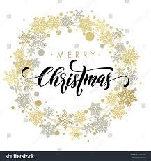 golden silver ornaments wreath decoration stock vector