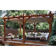 Costco Awnings Retractable Breeze Pergola With Retractable Canopy