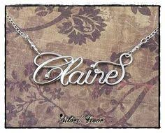 personalized script necklace large size personalized sterling silver calligraphy script name
