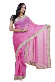 celebez baby pink colour heavy lace border satin beautiful zari saree