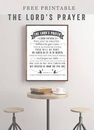 the lord u0027s prayer free printable sincerely sara d