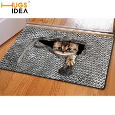 3d Area Rugs Hugsidea 3d Cat Bird Print Carpet Gray Woven Area Rugs And
