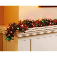time pre lit 18 garland multi lights walmart