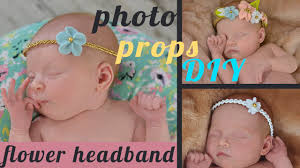 newborn headband newborn photo props diy easy flower headband from felt