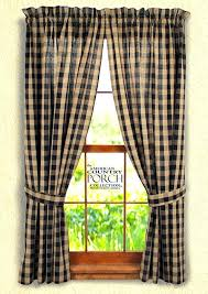 Black Check Curtains Buffalo Check Curtains Black Buffalo Check Tieback Curtain Panels