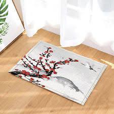 Japanese Bath Mat Cherry Blossom Rug Ebay