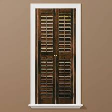 homebasics plantation walnut real wood interior shutters price