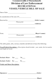 Free Motor Vehicle Bill Of Sale Form by Massachusetts Bill Of Sale Form Download Free U0026 Premium