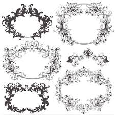 swirl ornament frames vector ai format free vector
