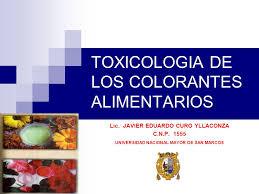 toxicologia de los colorantes alimentarios ppt