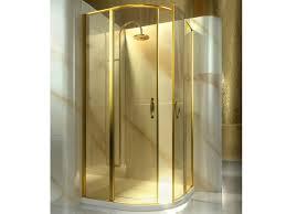 Gold Shower Doors Semicircular Custom Tempered Glass Shower Cabin Lt Gold By