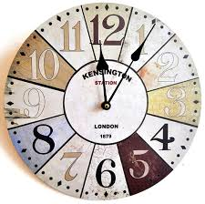 Horloge Murale Silencieuse by Horloge Murale Design Londres Kensington Shabby Chic 30cm