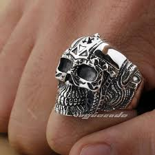 rocker fashion ring solid 925 sterling silver cool s biker