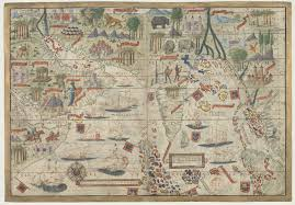 Indian Ocean Map Chart Of The Indian Ocean 1519 Made By Portuguese Cartographer