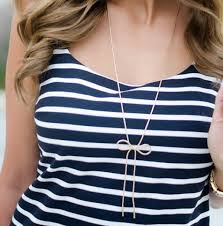long chain bow necklace images Long gold bow necklace purple peridot jpg