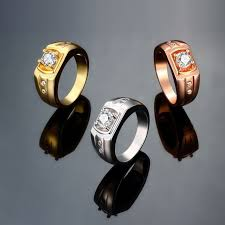 aliexpress buy 2015 new arrival mens ring fashion aliexpress buy 90 gold plated ring