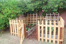 fence backyard ideas raised garden bed fence ideas home outdoor decoration