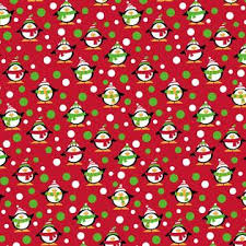 cheap christmas wrapping paper trim a home 30 in 180 sq ft colorful snowman santa penguin