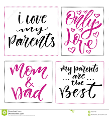 family day prints set of calligraphic phrases