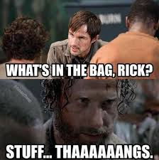 Memes Of The Walking Dead - rambo carol the walking dead memes season 5 premiere