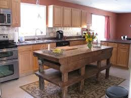 Kitchen Island Made From Reclaimed Wood Kitchen Island Made From Ikea Cabinets Photogiraffe Me