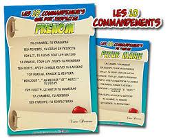 ton cuisine personnalisé tablier de cuisine les 10 commandements personnalisés cadeau