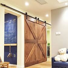 Sliding Door Wood Double Hardware by Double Panel Antique Style Steel Sliding Barn Door Closet Hardware