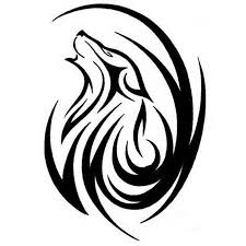 tribal wolf design stencil golfian com