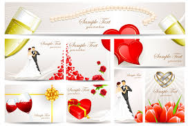 cards for wedding wishes exquisite wedding greeting card vector free vector 4vector