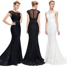 formal long women lace dress prom evening party cocktail