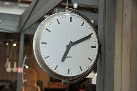 grande horloge murale d usine de lambert 1960s en vente sur pamono