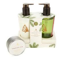 thymes frasier fir thymes frasier fir sink set and travel candle 8553739 hsn