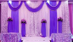 wedding backdrop blue fairy wedding backdrop curtain party decor background with silver