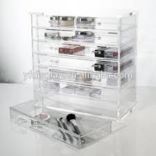 clear acrylic deco cosmetic nail polish drawer organizer acrylic
