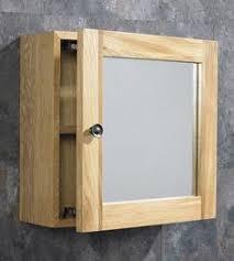 clickbasin solid oak wall mounted double door bathroom glass