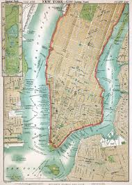 Central Park New York Map by Large Detailed Old Map Of Manhattan Manhattan Large Detailed Old