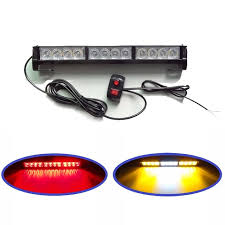 led security light bar 12v led strobe flash light bar car truck external warning light