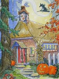 Vintage Halloween Decorations For Sale 66 Best Halloween Landscapes Images On Pinterest Happy Halloween