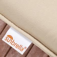 Sunbrella Indoor Sofa by Clara Indoor Outdoor Wicker Sofa Cushion Set Made With Sunbrella