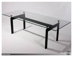 metropolitan dining table adjustable height in glass by mobital