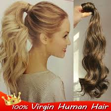 ponytail extension hairpiece wrap around ponytail extension remy