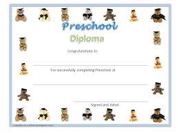preschool diploma preschool diploma free printable city espora co