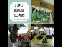 Diy Graduation Centerpieces by Simple Diy Graduation Decorations Youtube
