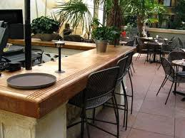 outdoor kitchen countertop ideas concrete countertop i like the accent lines cut in the top