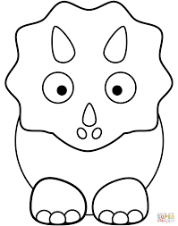 cartoon triceratop coloring page free printable coloring pages