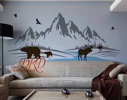 Best Wall Decals For Nursery Mountain Wall Decal Etsy