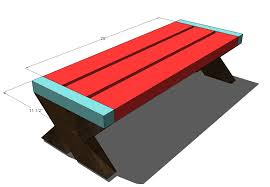 Plans For A Wood Picnic Table by Ana White Build A Modern Kid U0027s Picnic Table Or X Benches Diy