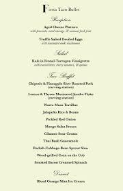 Sample Buffet Menus by Sample Wedding Buffet Reception Menu