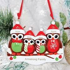personalised owl ornament